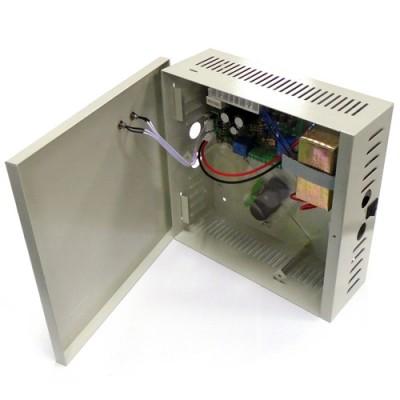 Fuente de alimentacion para control de acceso Fuente de alimentación 12v 3A con ranura para batería de backup