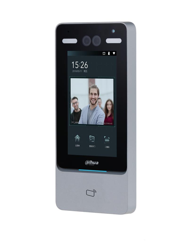Controlador de Acceso por Reconocimiento Facial con medición de temperatura en brazo. Control de acceso Facial con termómetro para brazo.