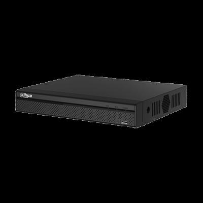 XVR de 8 canales 5MP   Resolución hasta 5MP HDCVI  4 canales IP adicionales de hasta 6MP  Ranura para 1HDD de hasta 10TB  1 canal de audio  Serie Lite  H.265+  Mini 1U