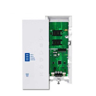 Módulo de comunicación LTE/4G/3G/2G/GSM   Ofrece soluciones de intercambio de datos de comunicación LTE / 4G / 3G / 2G o GSM para sistemas Paradox  Proporciona informes fiables y comunicación bidireccional entre los paneles de control Paradox y sus respectivas estaciones de monitoreo, así como mensajes personales.  Proporciona informes fiables y comunicación bidireccional entre los paneles de control Paradox y sus respectivas estaciones de monitoreo, así como mensajes personales.  Conexión automática PMH para el uso de la aplicación móvil Insite GOLD; Armar o desarmar el sistema a través de un mensaje de texto (SMS) al PCS265LTE; Instalación de 4 cables  Conexión RS-485 al panel, permite hasta 100m con la carga de la batería.  Compatible con la serie EVO, Spectra SP, MG5000, MG5050 y MG5075