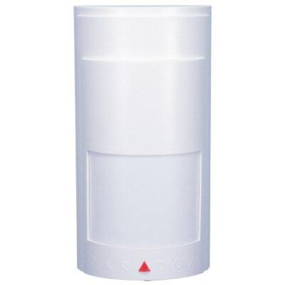 Detector de movimiento inalámbrico antimascotas Paradox   Detector inalámbrico  Inmunidad a mascotas de hasta 18kg  Sensor de doble elemento  11m x 11m y hasta 15m para vigas centrales con ángulo de visión de 88.5 °  Alcance inalámbrico en un entorno residencial típico: 35 m  Software Alive (el LED de alarma continúa mostrándose cuando PIR está en modo de ahorro de energía sin comprometer la vida útil de la batería)  Modo de ahorro de energía de 3 minutos después de dos detecciones dentro de un período de cinco minutos