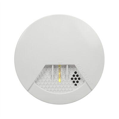 Detector de humo calor inalámbrico Paradox   Sensor de humo fotoeléctrico de alta sensibilidad.  Botón de prueba/silencio  Indicador LED de funcionamiento  Sirena incorporada (85dB a 3m)  Alcance inalámbrico 35 metros